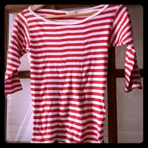 Edith Miller Red Striped Top - Small